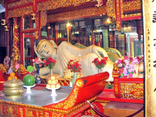 The Reclining Jade Buddha in Shanghai