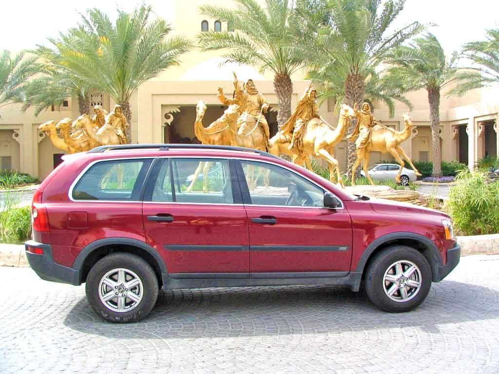 My Volvo XC90 at Dubai's Royal Mirage Hotel