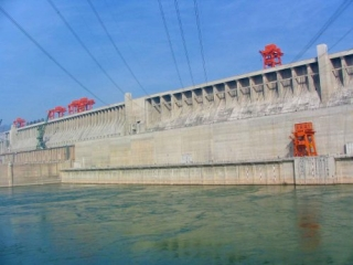 Fourteen Turbine on the North Side of the Three Gorges Dam