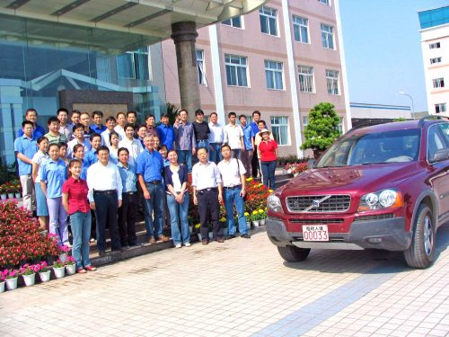 CPIC Staff Welcoming Me To Their Factory In Chongching