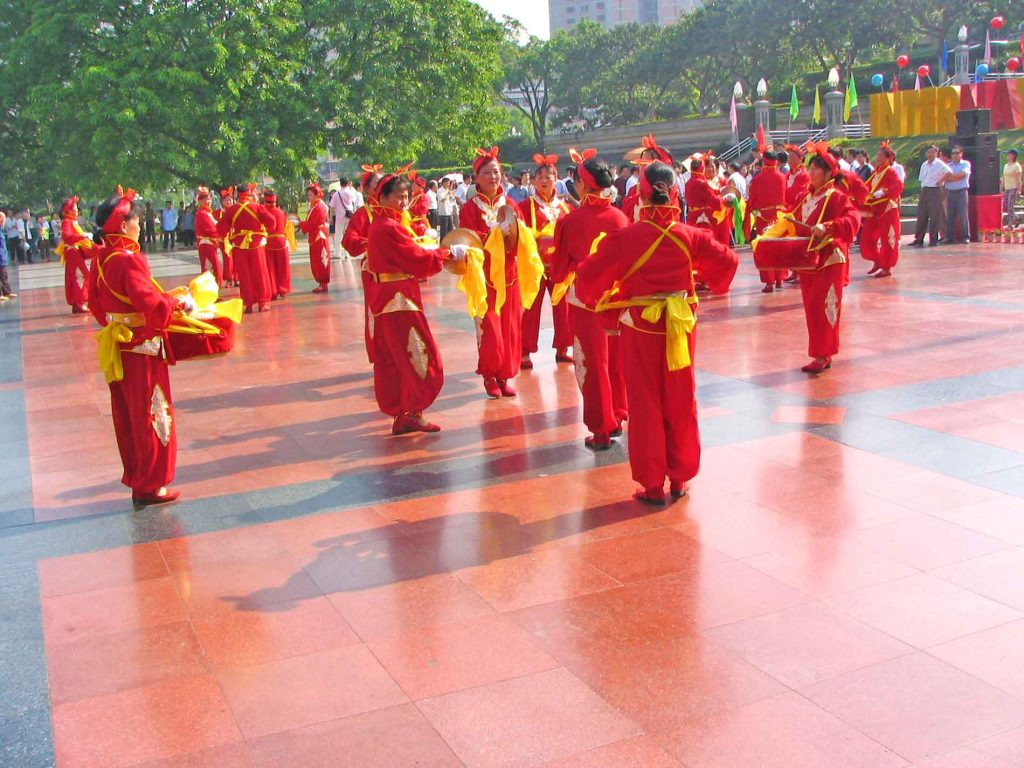 Drummers At A Cheque Presentation Ceremony In Chongching