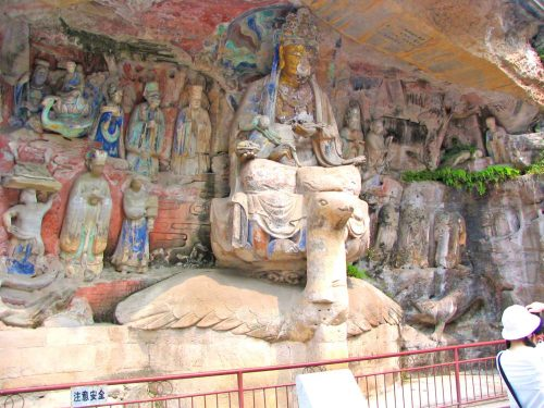 Buddha Sitting On A Peacock at Danzhou