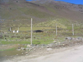 A Yurt Near The Kanding To Litang Road