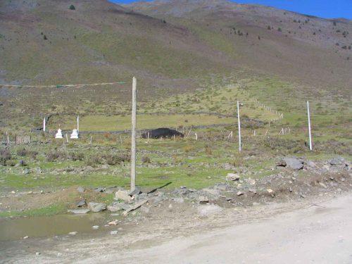 A Yurt Near The Kanding To Litang Road