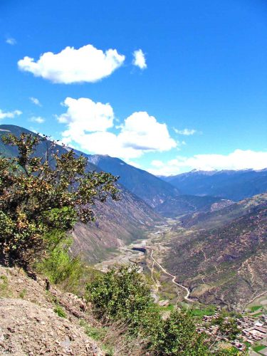 Looking Down To The Road From Litang To Batang