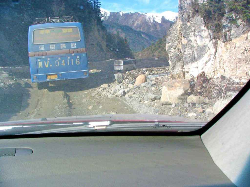 Following A Bus From Litang To Batang