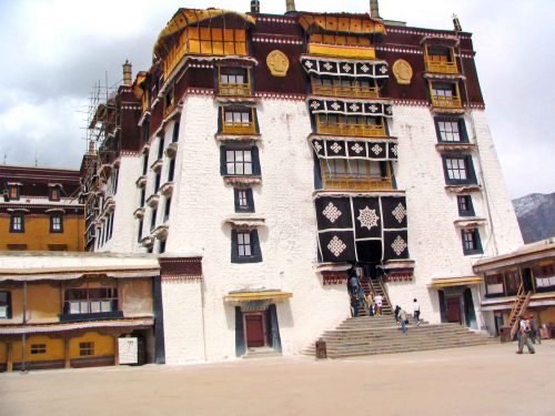The Entrance To The Potala Palace In Lhasa