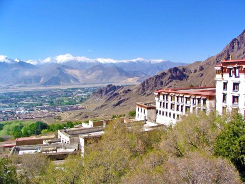 The View From The Drepung Monsatry Near Lhasa