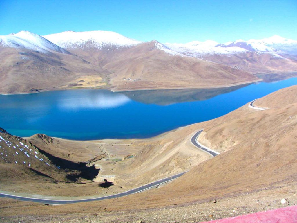 Lake Yamdrok Tso at 4,900 Metres Above Sea Level