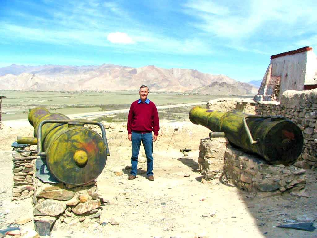 Two British Cannons At Gyantse Fort