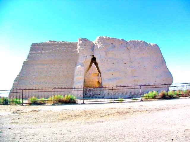 The Entrance To The Yumen Pass Near Dunhuang