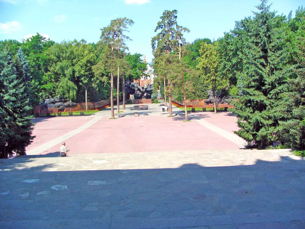 The Gardens Around The Eternal Flame in Almaty