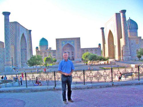 Standing In Front Of The Registan
