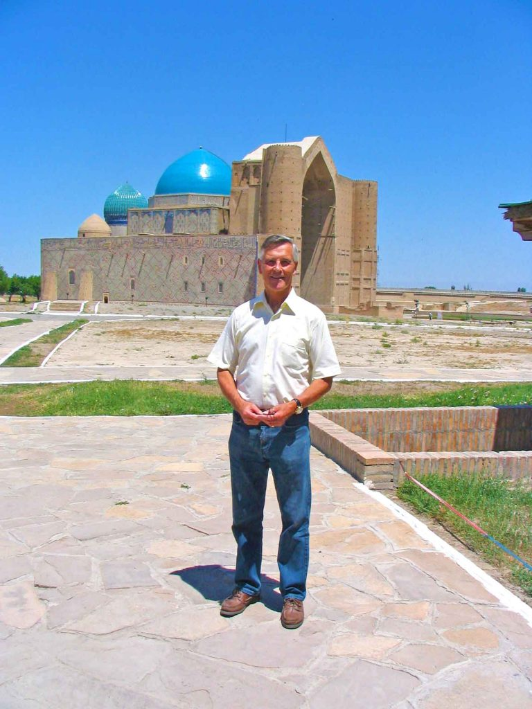 The Kohza Achmed Yasaui Mausoleum In Turkistan