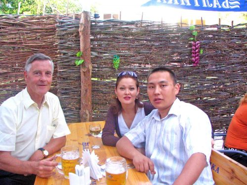Dan and Sultana Having Dinner In Uralsk