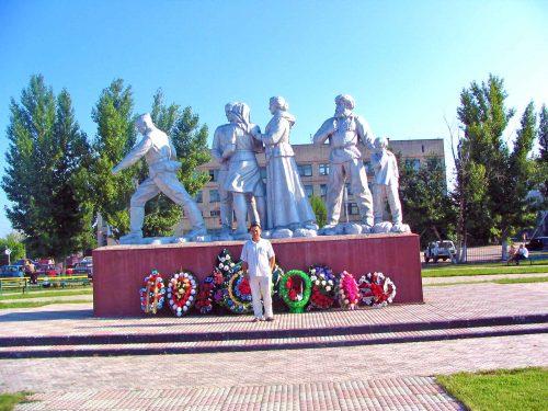 Dan, My Guide, At The War Memorial In Ershov