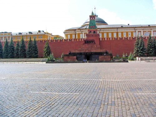 The Lenin Mausoleum In Red Square