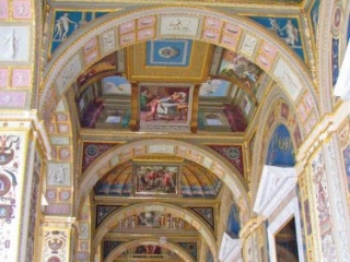 The Painted Ceiling In The Winter Palace In St. Petersburg