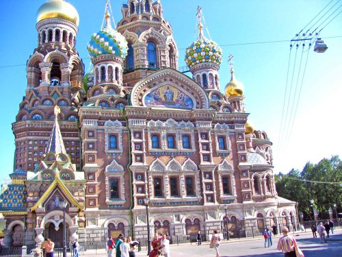 The Church Of The Resurrection In St. Petersburg