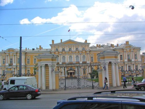 Magnificent Building In A St. Petersburg Side Street