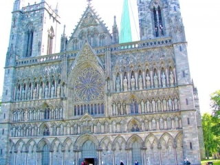 Trondheim Cathedral In Norway